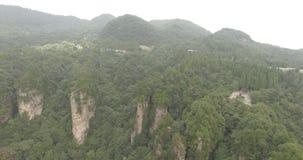 Zhangjiajie Aerial Scenery in China stock footage