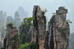 """Zhangjiajie as montanhas do """"Avatar"""" na província de Hunan em China imagens de stock royalty free"""