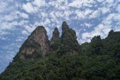Zhangjiajie China. Zhangjiajie Beauty Spot, Hunan Province, china, blue sky, white cluod, green trees Royalty Free Stock Photography
