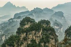 Zhangjiajie cliff mountain royalty free stock image