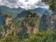 Zhangjiajie Forest Park - China nacionais - montanhas da aleluia fotografia de stock