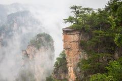 Zhangjiajie Forest Park. Gigantic pillar mountains rising from t. He canyon. Hunan province, China Stock Image