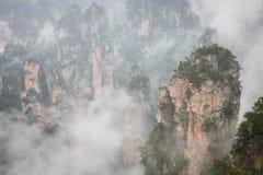 Zhangjiajie Forest Park. Gigantic pillar mountains rising from t. He canyon. Hunan province, China Stock Images