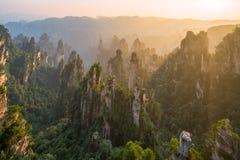 Zhangjiajie Forest Park national, Hunan, Chine Photo stock