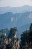 Zhangjiajie Forest Park nazionale nella roccia generale Qunfeng di Tianzishan del Hunan Immagini Stock Libere da Diritti