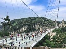 Zhangjiajie-Glas-Brücke lizenzfreie stockfotos