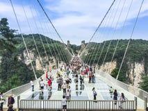 Zhangjiajie-Glas-Brücke stockfotos
