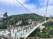 Zhangjiajie Glass Bridge Royalty Free Stock Photos