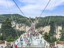 Zhangjiajie Glass bro Arkivbilder