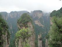 Zhangjiajie, l'ispirazione del pianeta di Pandora nell'avatar fotografie stock libere da diritti