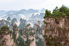 Zhangjiajie Lokaliserat i det wulingyuan sceniska området royaltyfri foto