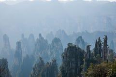 Zhangjiajie medborgare Forest Park i det Hunan Tianzishan Yufeng maximumet Fotografering för Bildbyråer