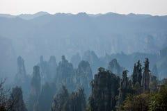 Zhangjiajie medborgare Forest Park i det Hunan Tianzishan Yufeng maximumet Royaltyfri Bild