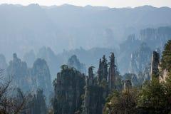 Zhangjiajie medborgare Forest Park i det Hunan Tianzishan Yufeng maximumet Arkivfoton