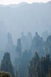 Zhangjiajie medborgare Forest Park i det Hunan Tianzishan Yufeng maximumet Royaltyfri Fotografi