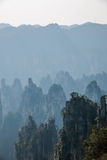 Zhangjiajie medborgare Forest Park i det Hunan Tianzishan Yufeng maximumet Royaltyfria Bilder