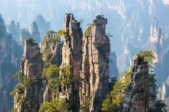 Zhangjiajie medborgare Forest Park Kina arkivbilder