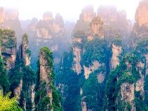 Zhangjiajie medborgare Forest Park, Wulingyuan, Kina royaltyfri foto