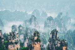 Zhangjiajie mountains, China stock photography