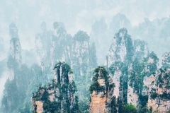 Zhangjiajie mountains, China royalty free stock photography