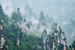Zhangjiajie mountains, China stock photo