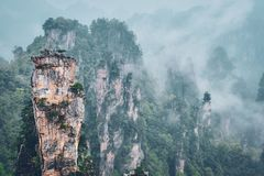 Zhangjiajie mountains, China stock image