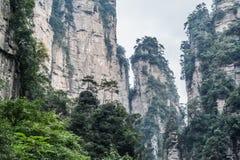 Zhangjiajie mountains. Wulingyuan national forest park in Hunan province, China Royalty Free Stock Image