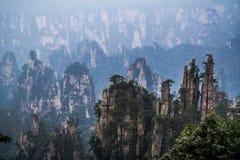 Zhangjiajie mountains. Wulingyuan national forest park in Hunan province, China Stock Images