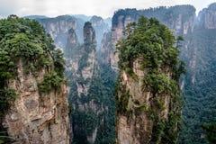 Zhangjiajie mountains. Wulingyuan national forest park in Hunan province, China Royalty Free Stock Photos