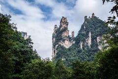 Zhangjiajie mountains. Wulingyuan national forest park in Hunan province, China Stock Image