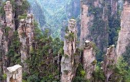 Zhangjiajie National Forest Park, Hunan, China. Zhangjiajie National Forest Park & x28;Avatar Floating Mountains& x29; in the Wulingyuan Scenic Area, Hunan royalty free stock photo