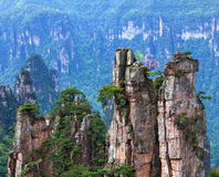 Zhangjiajie National Forest Park in Hunan Province, China Royalty Free Stock Images