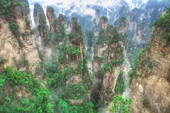 Zhangjiajie National Park, Avatar Hallelujah Mount Royalty Free Stock Photos