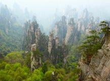 Zhangjiajie National Park, China. Avatar mountains stock image