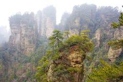 Zhangjiajie National Park. China. Avatar mountains stock photo