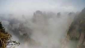 Zhangjiajie National Park, China. Avatar mountains stock footage
