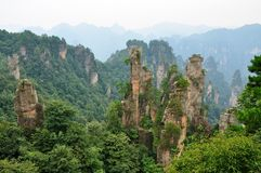 Zhangjiajie National Park in Hunan, China Royalty Free Stock Image