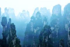 Zhangjiajie nationaler Forest Park, shooted von Tianbo-Villa, die eine UNESCO-Welterbestätte gekennzeichnet wurde, lizenzfreies stockbild