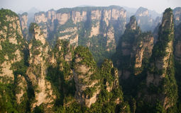 ZhangJiaJie, ?r stationnement de forêt nationale en Chine Photos libres de droits