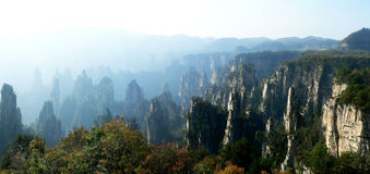 Zhangjiajie\'s mountain peak Royalty Free Stock Photography