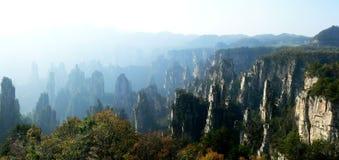 Zhangjiajie\'s mountain peak. Beautiful and mysterious Zhangjiajie\'s mountain peak Royalty Free Stock Photography