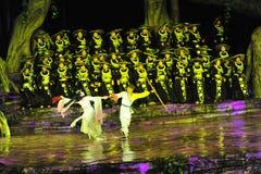 Zhangjiajie tianmen bergshow Arkivfoton