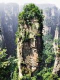 Zhangjiajie valley. Zhangjiajie national park national park wulingyuan Royalty Free Stock Images