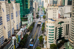 Zhangyang Road in Pudong,Shanghai Royalty Free Stock Photos