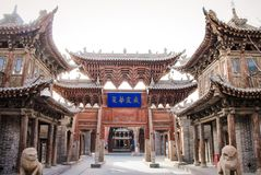 ZHANGYE, CHINA - MARCH 8 2016: The Giant Buddha Temple. The nati Stock Photos