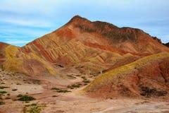 Zhangye Danxia Geological park Obraz Stock