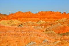 Danxia Geological Park, Zhangye, Gansu Province, China royalty free stock images