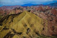 Zhangye Danxia Geological Park Stock Images
