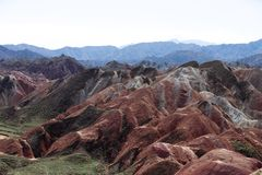 Zhangye Danxia landform obrazy royalty free