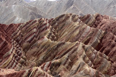 Zhangye Danxia Landform. Colorful rock formations at Zhangye Danxia Landform National Park in China Royalty Free Stock Photography